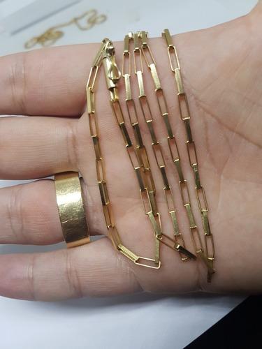 corrente tijolinho ouro 18k + pingente
