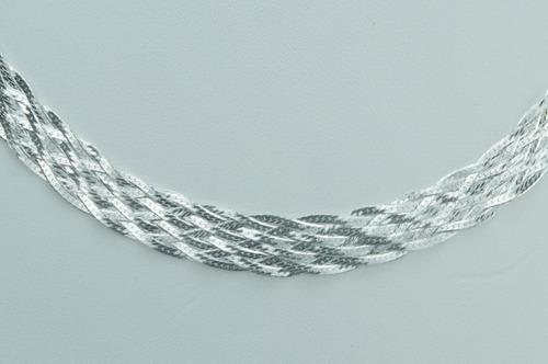 corrente trançada 10 fios 45 cm (v24,5) prata 925