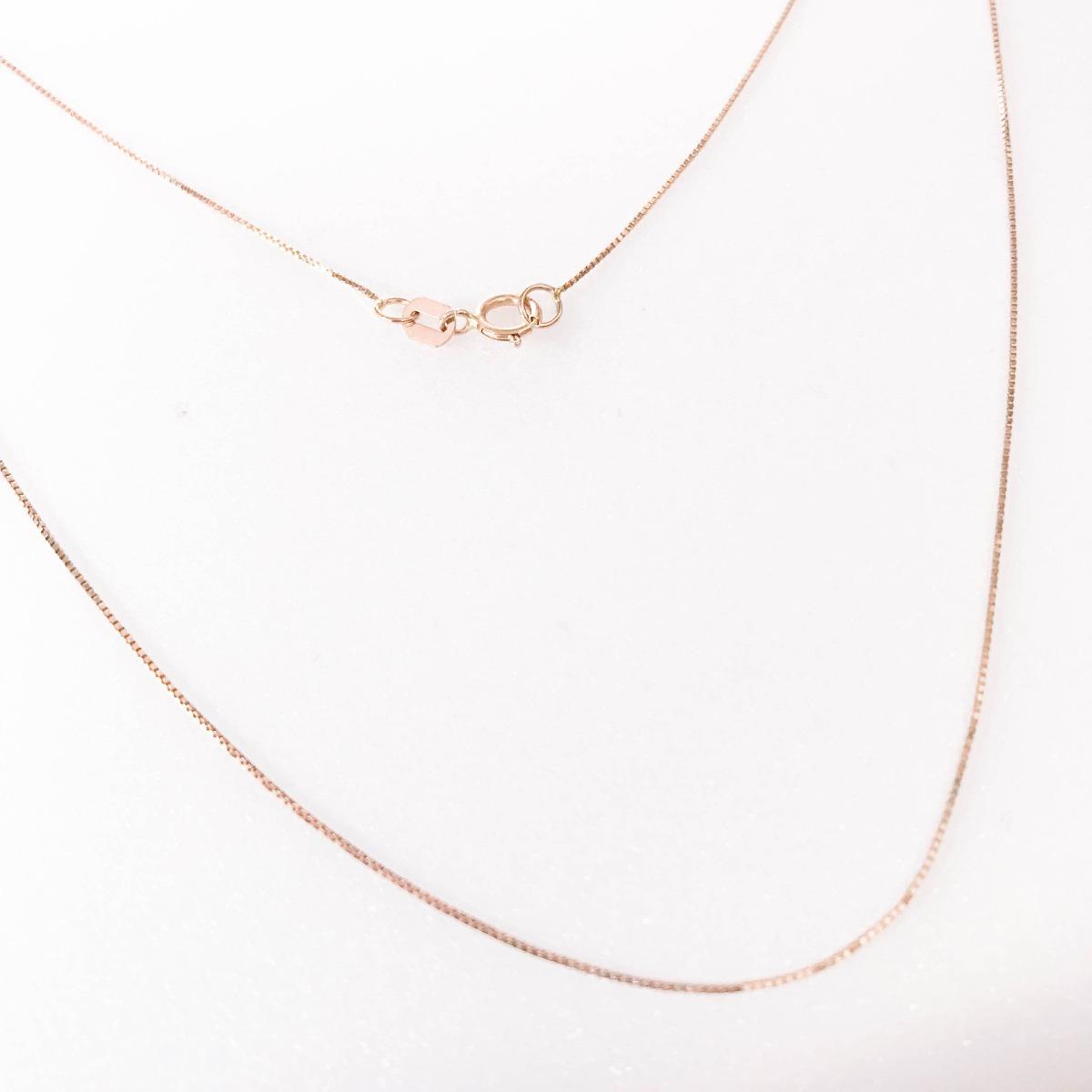 058153d398e13 corrente veneziana 40cm feminina rose gold ouro 18k 750. Carregando zoom.
