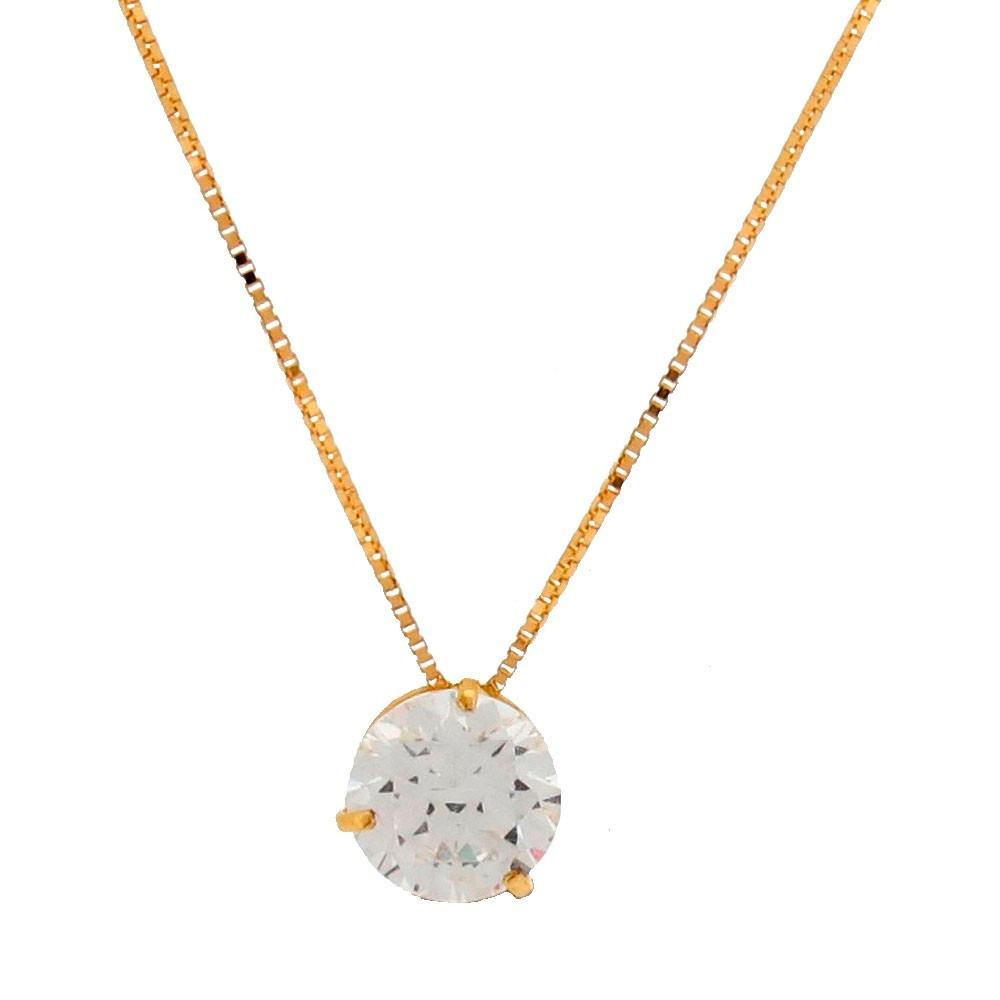 a38c681c1feb7 corrente veneziana 40cm + pingente ponto luz ouro 18k jóias-. Carregando  zoom.