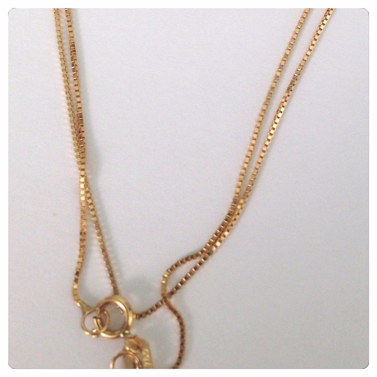 5e4efdf0d56f8 corrente veneziana 50cm ouro 18k rose branco ou amarelo 1.5g. Carregando  zoom.