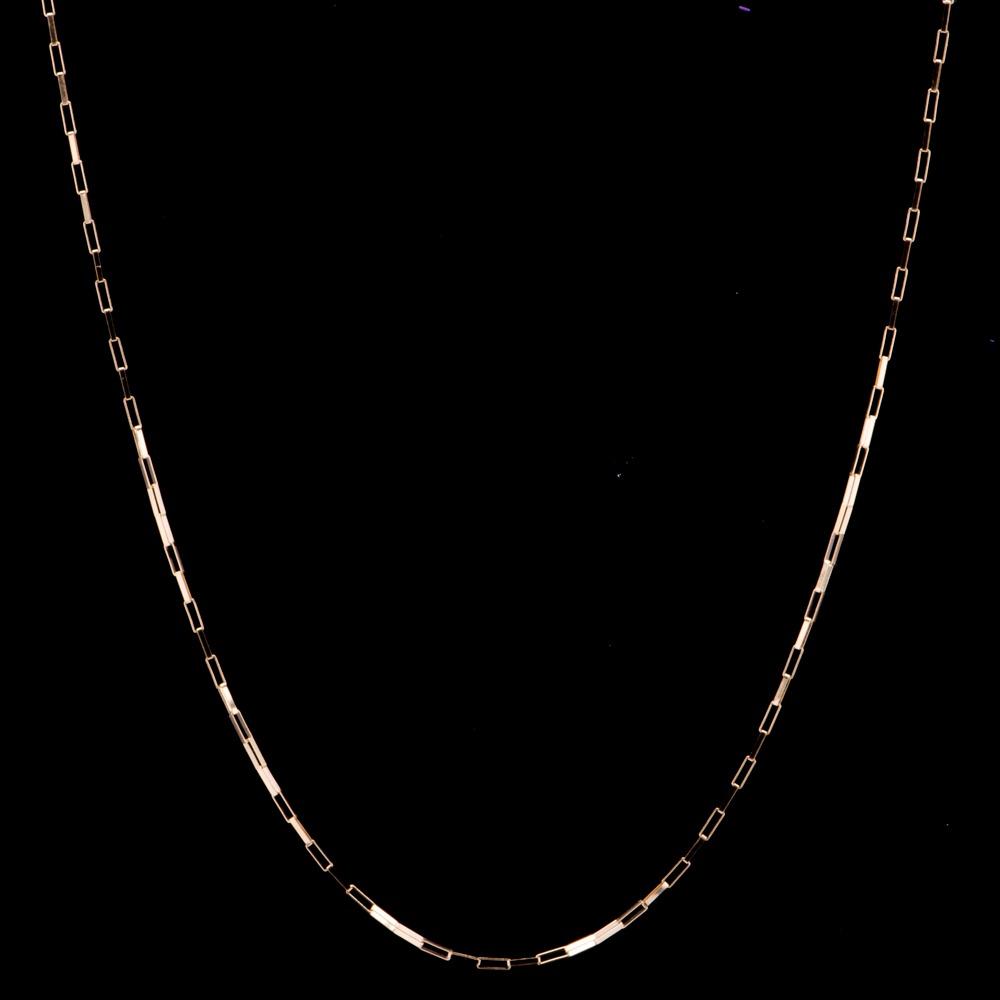 05b6ce50f7855 Corrente Veneziana Alongada Com 60cm Em Ouro 18k - 1