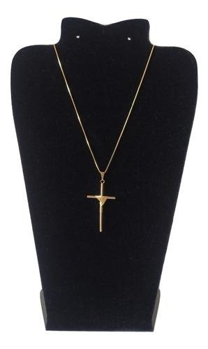 corrente veneziana com pingente crucifixo garantia qmaximo