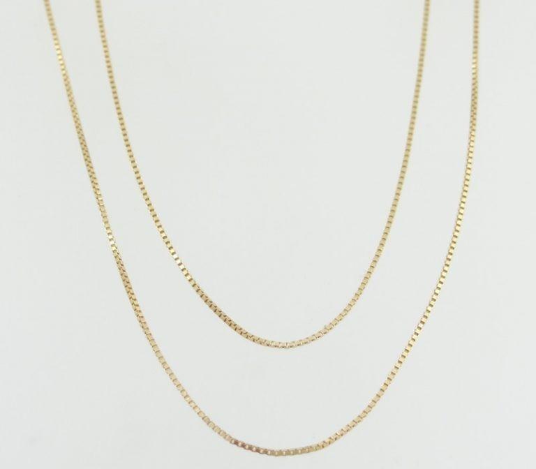 Corrente Veneziana De 50 Cm Em Ouro Rh Happygold - R  289,00 em ... e4cf0830da