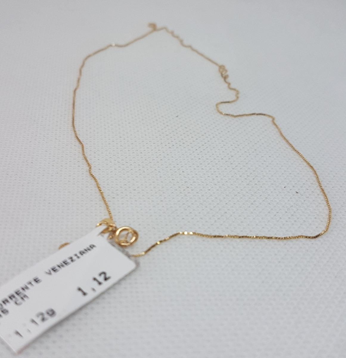 Corrente Veneziana Em Ouro 18k 750 45cm 1,12g - R  268,80 em Mercado ... 6db9c61b46