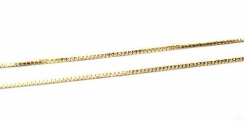 corrente veneziana em ouro 18k-750 de 50cm ou 60cm