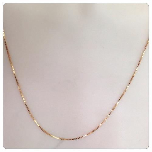 corrente veneziana masculina de 60 cm ouro 18k com 4.95 grs