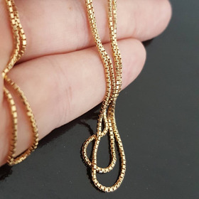 Corrente Veneziana Masculina De Ouro 18k - Cordão 60 Cm