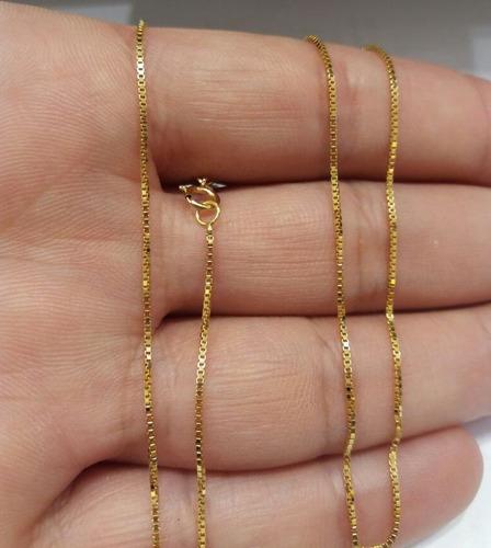 Corrente Veneziana Ouro 18k 1.3grama Tam 60cm + Brinde !!! - R  349 ... 295a396844