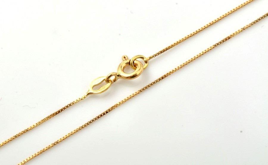 e5b34dec1c73a corrente veneziana ouro 18k 50 cm + frete + caixinha. Carregando zoom.
