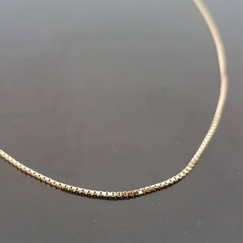 corrente/cordão veneziana masculina em ouro 18k 60 cm