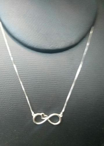 correntinha de prata 925 presente namorada infinito