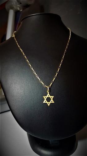 correntinha masculina veneziana ouro18k c estrela davi
