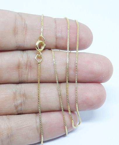 correntinha veneziana fina banhada a ouro unisex 60 cm fg