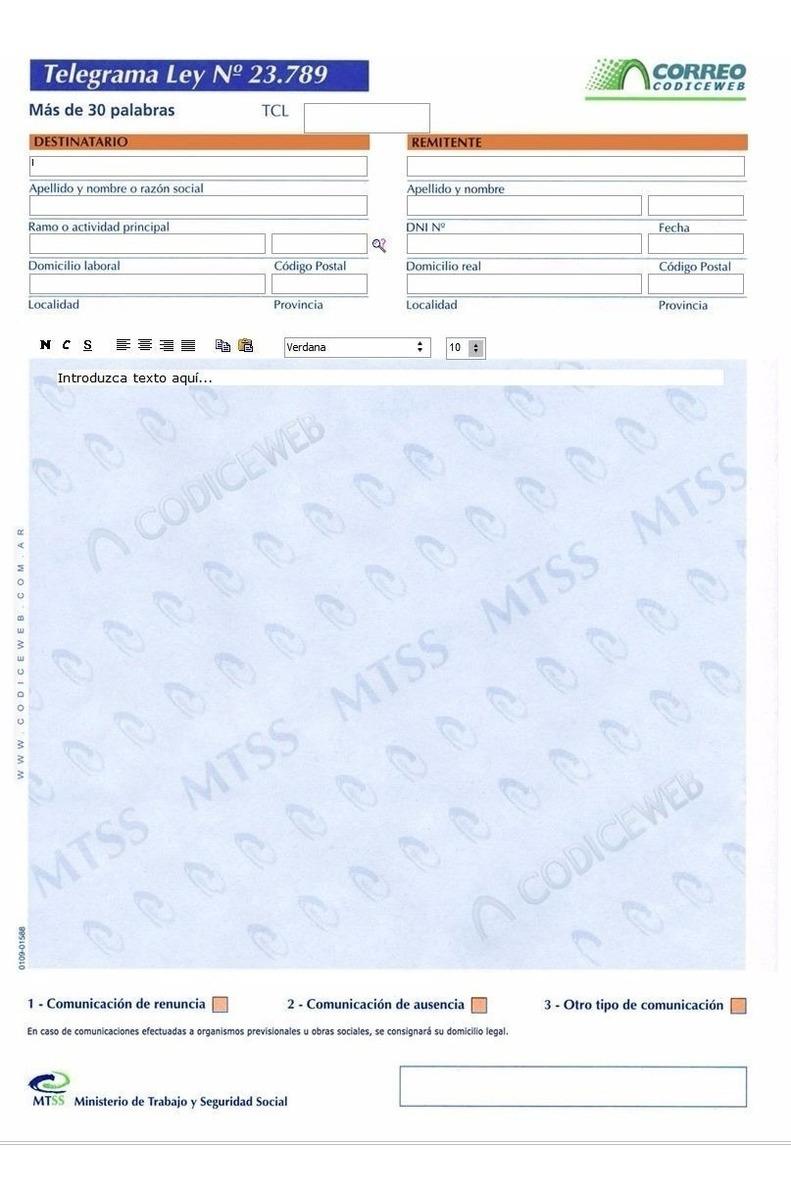 Correo Arg Programa Abogados Carta Documento Telegrama