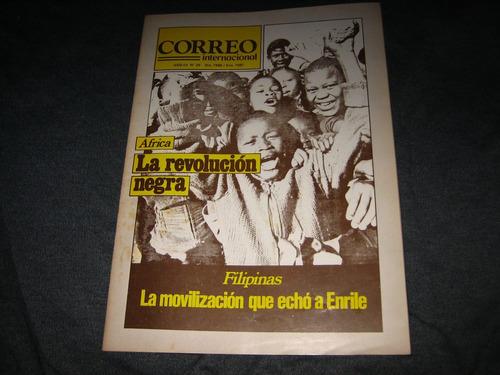 correo internacional revistas nº 25/27/31 1986/87 precio c/u
