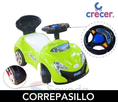 correpasillo pvc/dsn auto/espaldar/ruedas negras crecer