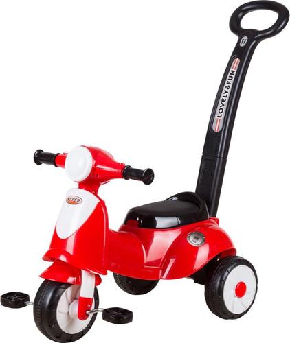 correpasillos triciclo con empujador niño/niña
