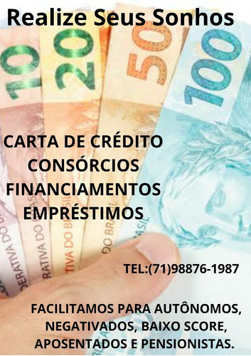 corretores/ financiamentos/ carta de crédito e etc
