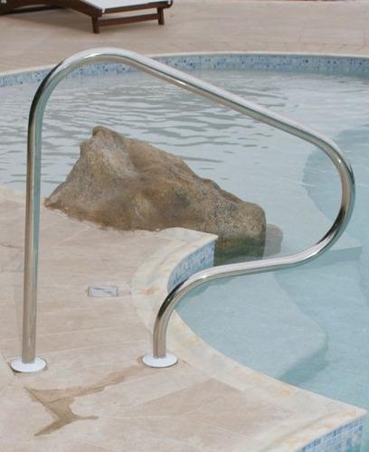 corrimão em aço para piscinas  mod. parati sodramar