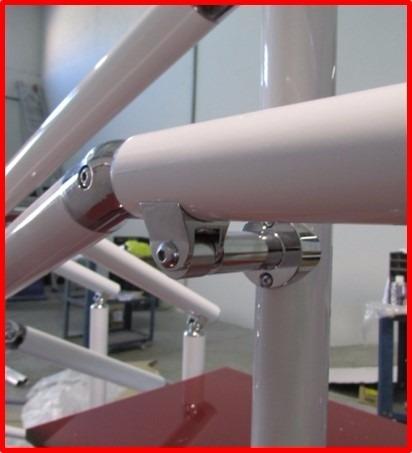 corrimão suporte p/deficiente cromado p tubo de 2 polegadas