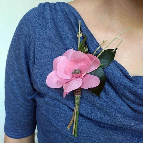 corsage broche flores distintivo kit 10 piezas c05