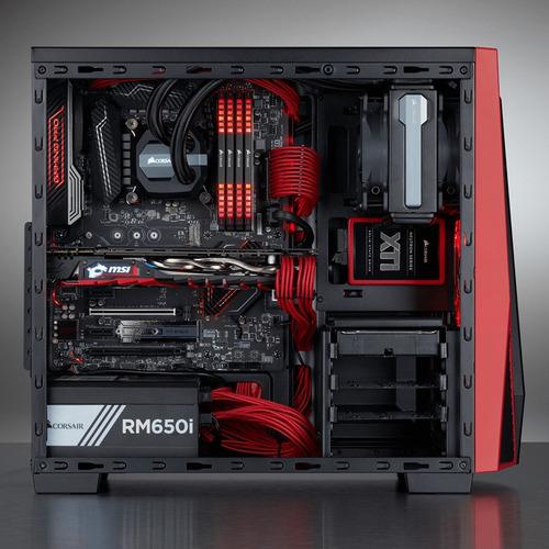 corsair gabinete carbide spec-04 ventana atx negro con rojo*