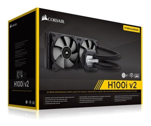 corsair h100i v2 water cooler watercooler pc gamer seminovo