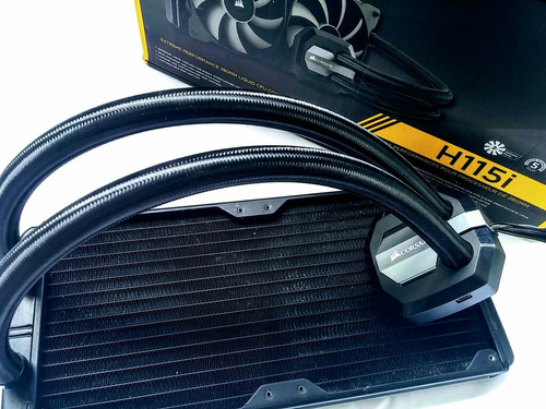 corsair h115i water cooler hydro series pc gamer leia