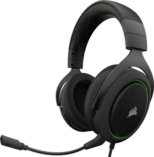 corsair headset gamer hs50 verde 3.5m ps4/xbox/mac sumcomcr)