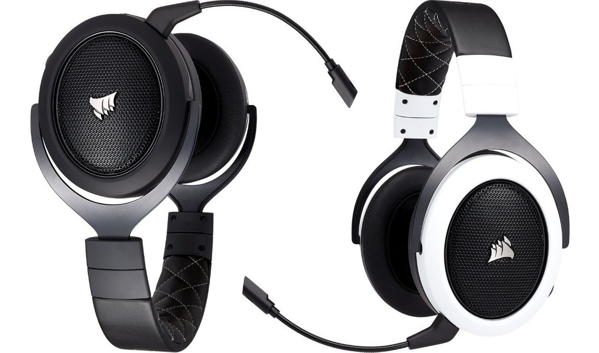 Corsair Hs70 Wireless Fone Headset Carbon E White Pc E Ps4