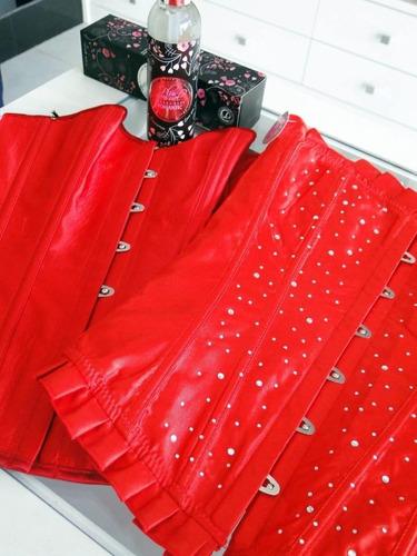 corselet blusa tomara que caia - vermelho