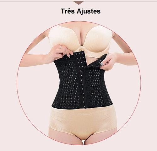 corselet cinta modeladora corset corpete barato espartilho-$