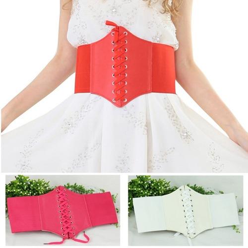 corselet cinto corpete espartilho modelador elástico couro