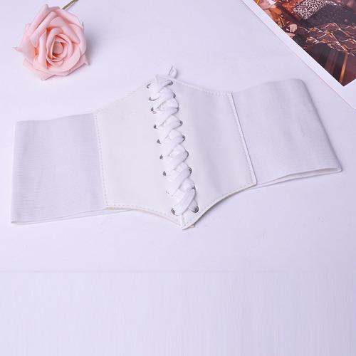 corselet cinto couro corpete espartilho elástico modelador