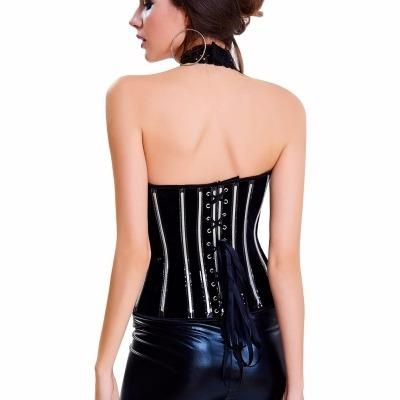 corselet corset espartilho couro plus size encomenda