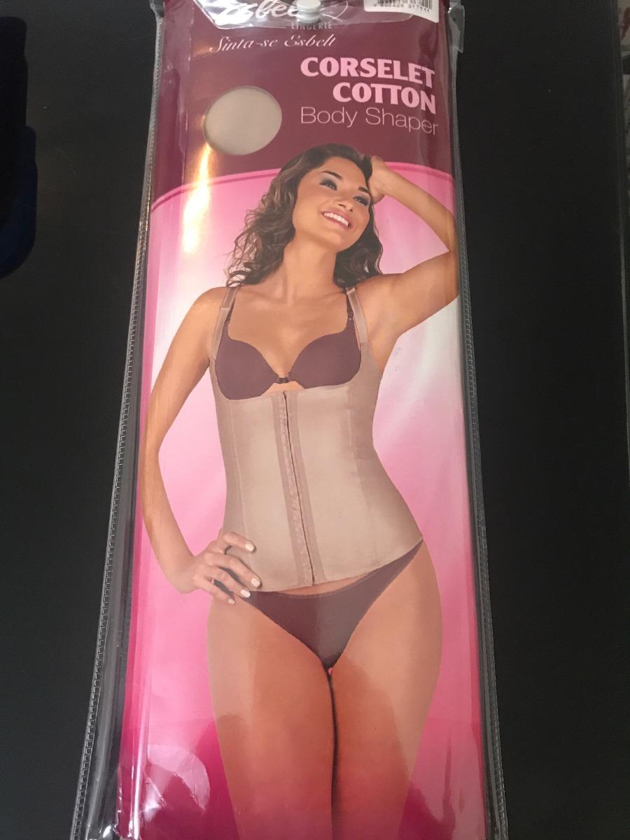 be41330638ac1 corselet cotton esbelt (cinta modeladora ) body shaper. Carregando zoom.