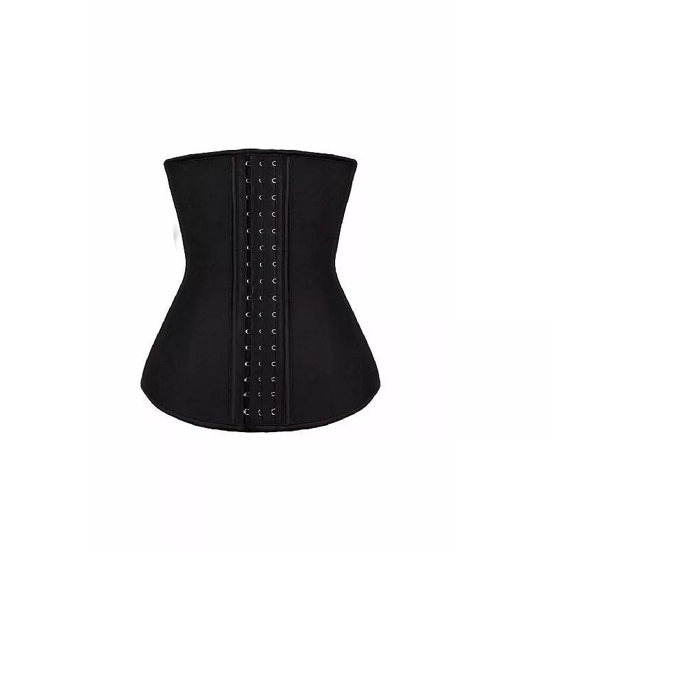 835058cf5 corselet espartilho preto com ziper modela cintura fina. Carregando zoom.
