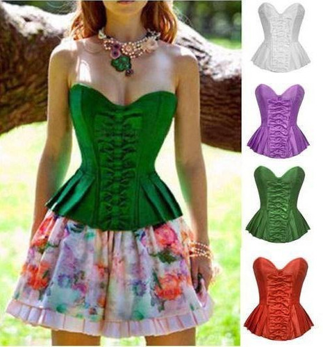 corselet lingerie modelador com 12 barbatanas tamanho: 38