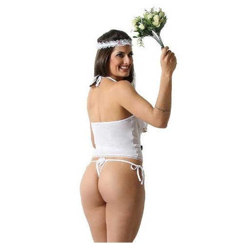 corselet sensual noivinha sexy tentação