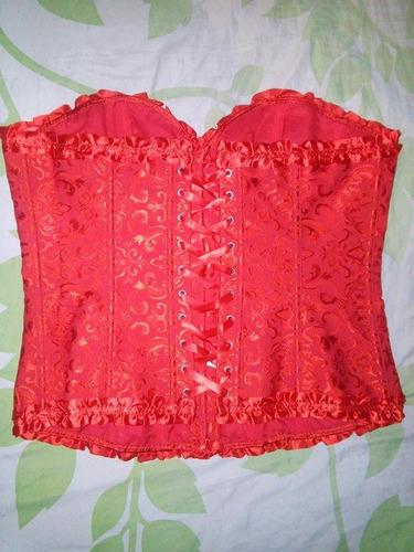 corselet vermelho tamanho 5xl