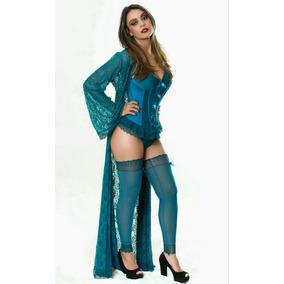 35153d744 Lingerie Gorethy Atacado - Corset Azul celeste no Mercado Livre Brasil