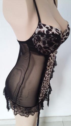 corset body con brasiere animal print talla grande *:*