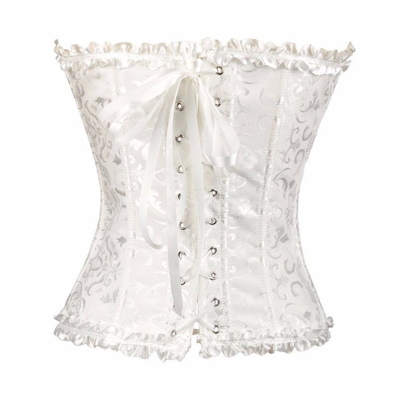 c1e14cea9b corset corselet corpete espartilho brocado cintura afina. Carregando zoom.