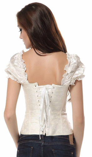 corset corselet corpete espartilho com mangas pronta entrega