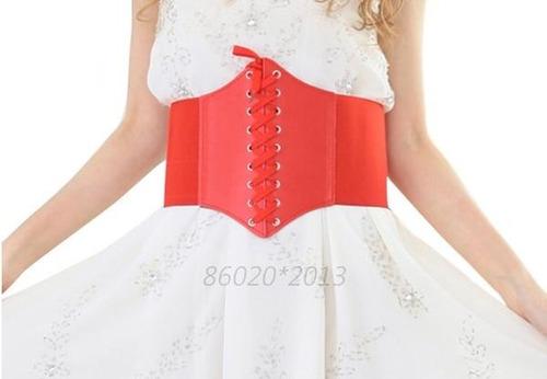 corset corselet corpete espartilho couro elástico