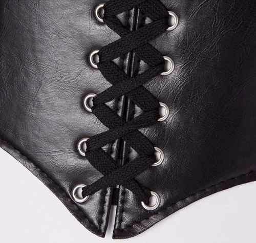 corset corselet corpete espartilho couro elástico pr entrega