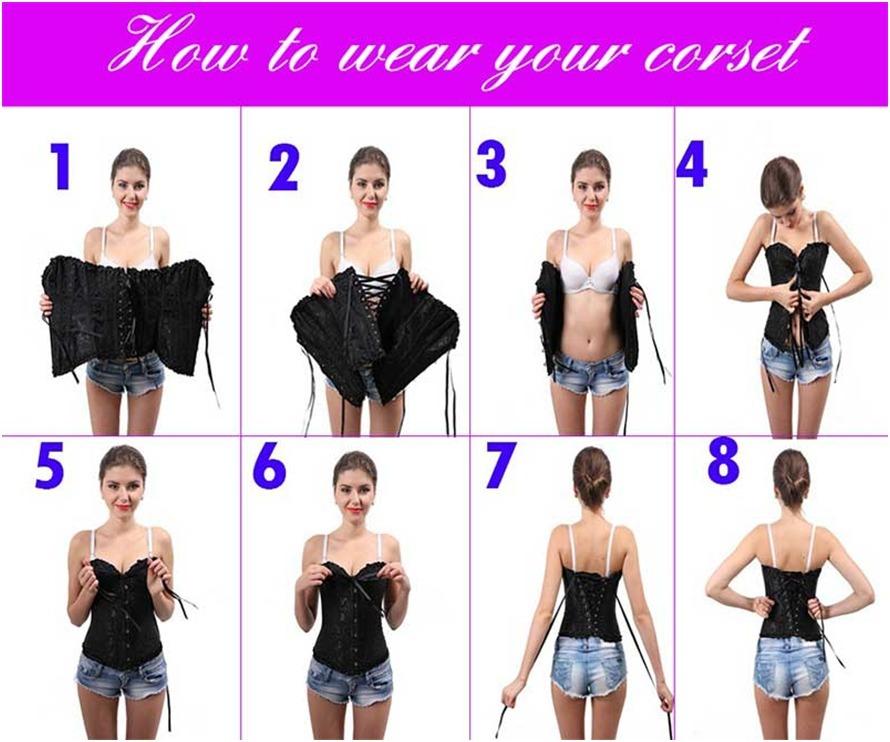9fe70bac3 corset corselet corpete espartilho preto 12barbatanas de aço. Carregando  zoom.