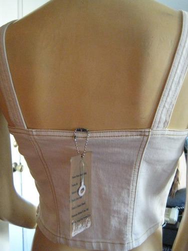 corset elasticado, michael r-dan 1962,tela yeans, talla s