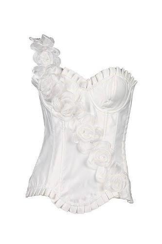 corset - importado de raso  c/ rosas en un bretel.-